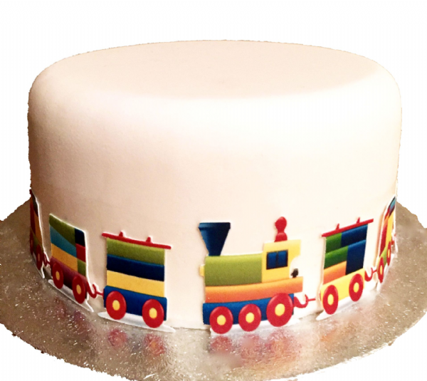 Toy train edible border/ribbon